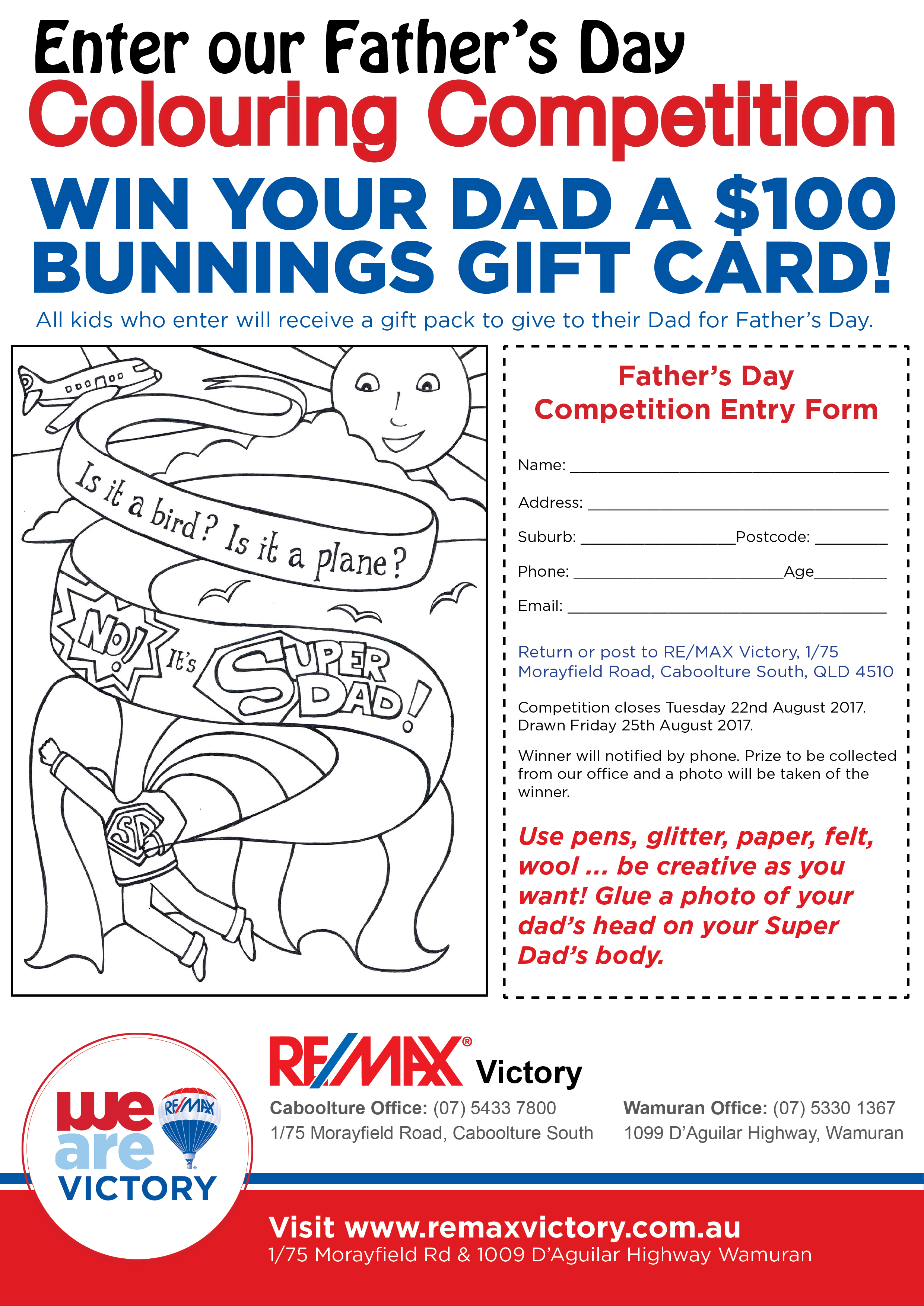 fathers day competition remax victory